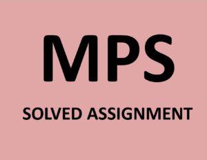 ignou dissertation mps